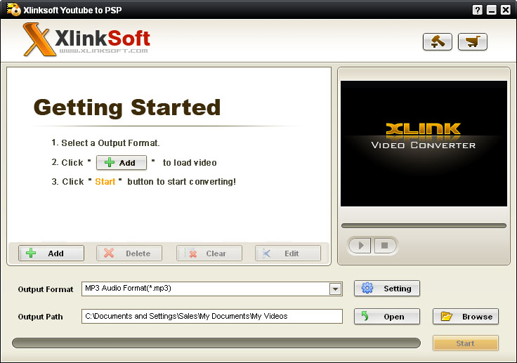 Xlinksoft YouTube to PSP Converter